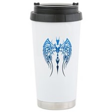 blue tribal dragon Travel Mug