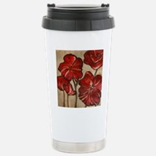Poppy Art Stainless Steel Travel Mug