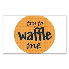 Try to waffle me Rectangle Decal