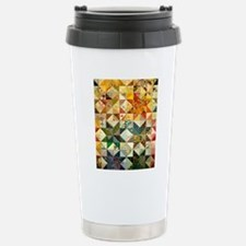 Fun Patchwork Quilt Stainless Steel Travel Mug