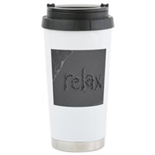 relax bw 8x10 Travel Mug