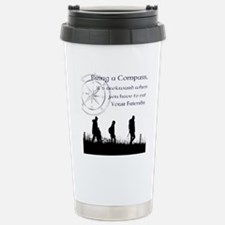 compass joke Stainless Steel Travel Mug