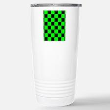 flipflopsgrncheckerboar Stainless Steel Travel Mug