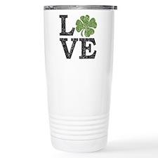 love_shamrock_black Travel Mug