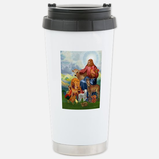 JesusAnimaltee2 Stainless Steel Travel Mug