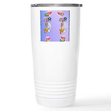 Flip Flops Gold and Sil Travel Coffee Mug