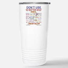 No MatterWhatTextColor. Travel Mug