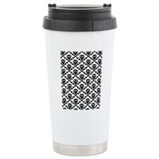 Black White Skulls Travel Coffee Mug