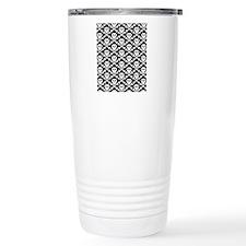 White Black Skulls Travel Coffee Mug