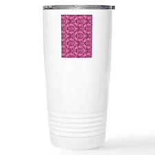 Pink Damask Travel Mug