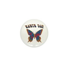 Earth Day Butterfly Mini Button (10 pack)