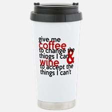 Give Me Coffee And Wine Humor Stainless Steel Trav