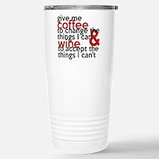 Give Me Coffee And Wine Humor Travel Mug