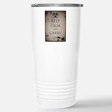 Vintage Keep Calm Travel Mug