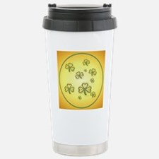 Circle Gold and Green S Stainless Steel Travel Mug