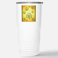 GoldandGreenShamrocks-2 Stainless Steel Travel Mug