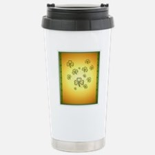 Heart Jewel Gold and Gr Stainless Steel Travel Mug