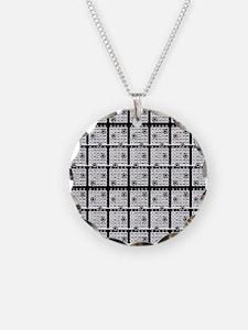 Black Bingo Paper Necklace