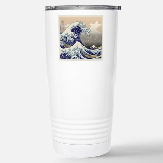 Hokusai_Great_WaveKing1 Stainless Steel Travel Mug