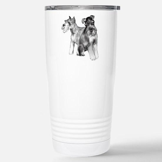 schnauzers Stainless Steel Travel Mug