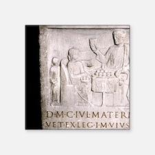 """A Roman family. Roman perio Square Sticker 3"""" x 3"""""""