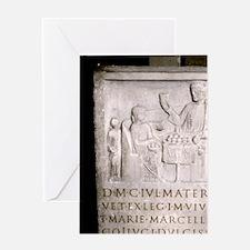 A Roman family. Roman period. Greeting Card