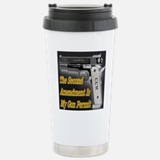 gun_permit_reverse Stainless Steel Travel Mug