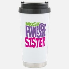 MOST AWESOME SISTER FIN Travel Mug
