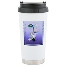 MensWalletWhite Koi-Blu Travel Mug