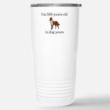 80 birthday dog years collie Travel Mug
