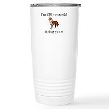 90 birthday dog years collie Travel Mug