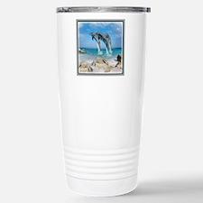 Dolphin Jump Tiles Travel Mug