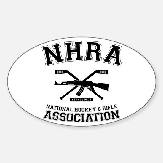 National hockey and rifle assn Oval Decal