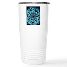 Iceblue bliss kaleidosc Travel Mug
