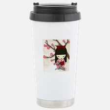Kokeshi Sock Monkey 01 Stainless Steel Travel Mug
