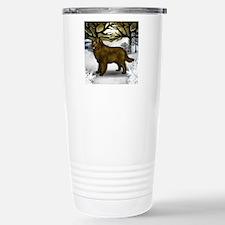 brown nw w Travel Mug