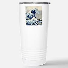 Pillow Hokusai Wave Stainless Steel Travel Mug