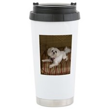 MalteseShower1 Travel Coffee Mug