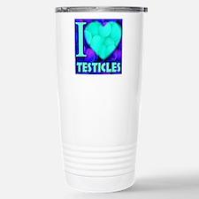 ilove_testicals_blue_in Stainless Steel Travel Mug