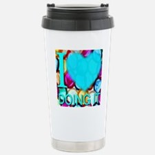 ilove_DOINGIT_skyblue Stainless Steel Travel Mug