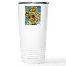 SUNFLOWERS square 300dp Travel Mug