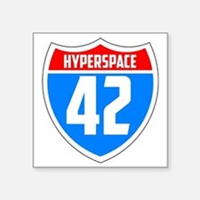 """Hyperspace 42 Square Sticker 3"""" x 3"""""""