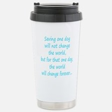 Save dog aqua Travel Mug