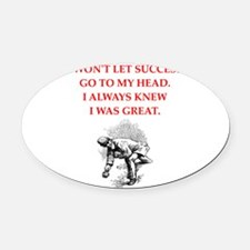 bocce Oval Car Magnet