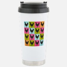 poster-chickenpopart Stainless Steel Travel Mug