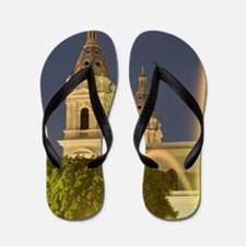 With tower of Cathedral of Our Lady of  Flip Flops