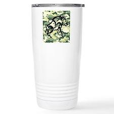 woodland Camo blk boar Travel Mug