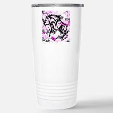Boar on Pink Digital Stainless Steel Travel Mug