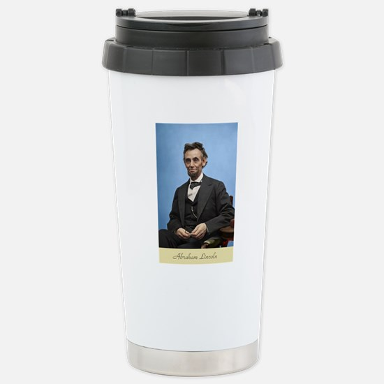 23X35 Abe Lincoln Color Stainless Steel Travel Mug