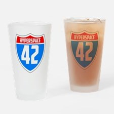 Hyperspace 42 Drinking Glass